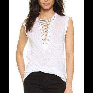 FOREVER21 lace up tank top!